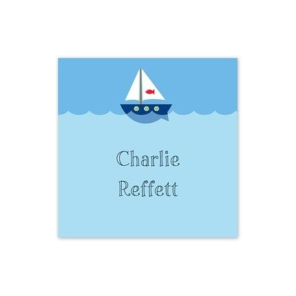 Sailboat Square Sticker