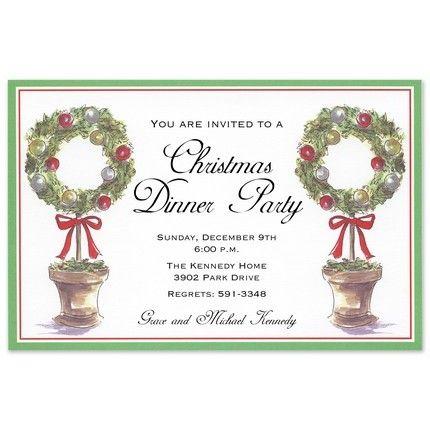 Wreath Topiary Invitation