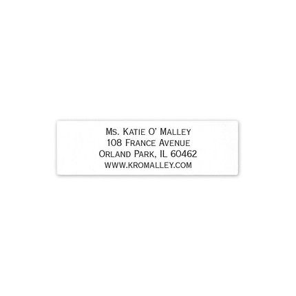 White Address Label