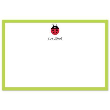 Ladybug Flat Card