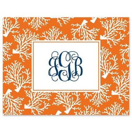 Orange Coral Note Card