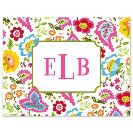 Bright Floral Note Card