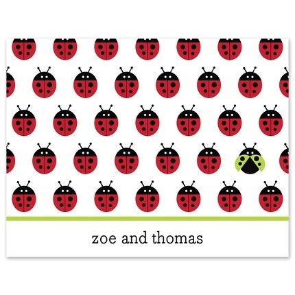 Ladybug Repeat Note Card