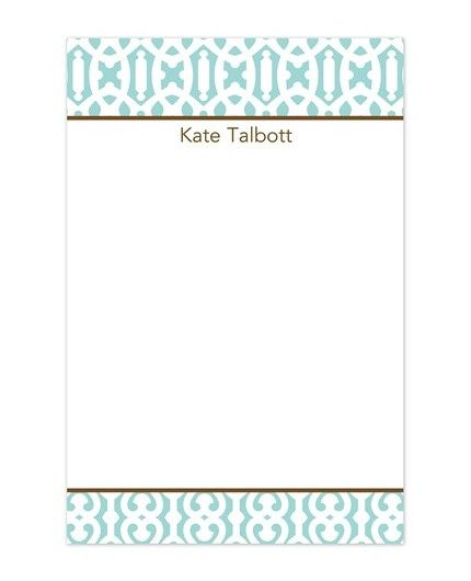 Cameron Teal Note Pad