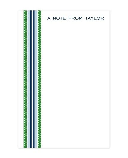 Blue & Green Ribbon Note Pad