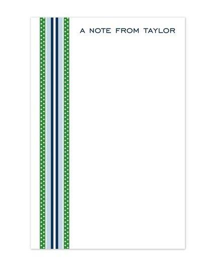 Blue & Green Ribbon Note Pad