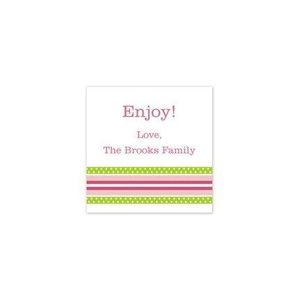 Grosgrain Pink Sticker