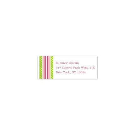 Grosgrain Pink Address Label