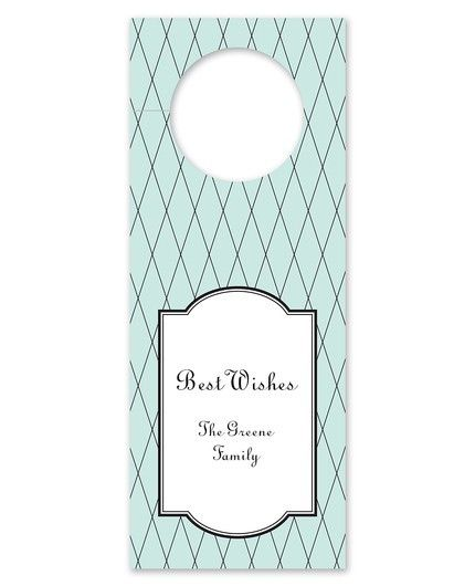 Criss Cross Blue Wine Tag
