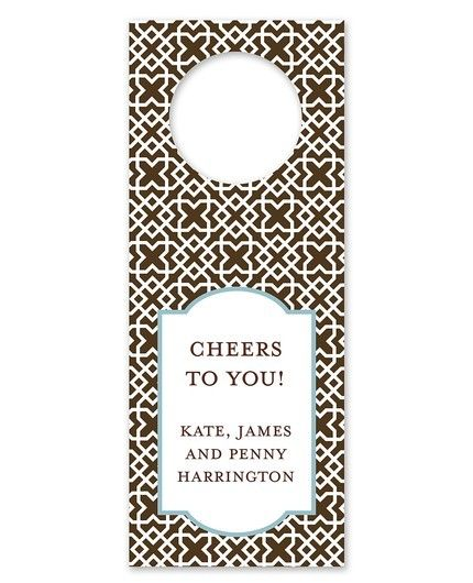 Mod Lattice Brown Wine Tag