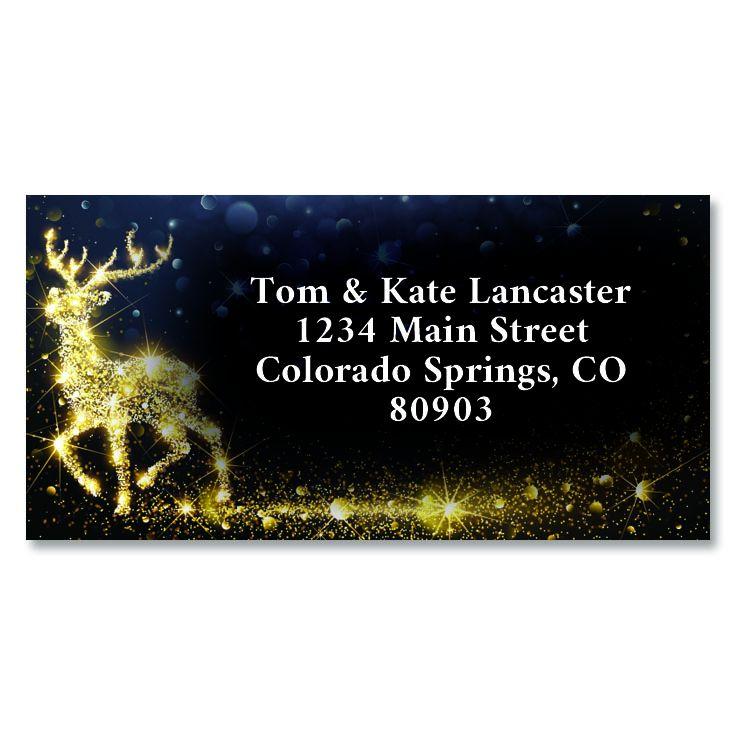 Holiday Magic Border Custom Address Labels