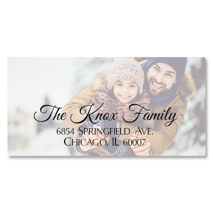 Full Photo Border Custom Address Labels