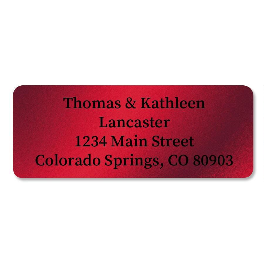 Red Foil Custom Address Labels