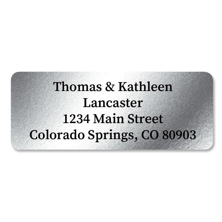 Silver Foil Custom Address Labels