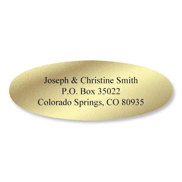 Foil Oval Custom Address Labels