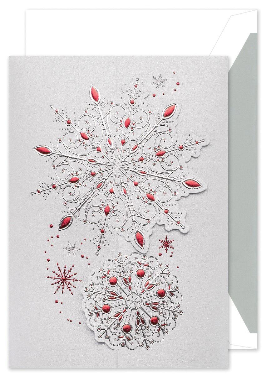 Lavish Snowflakes Greeting Card
