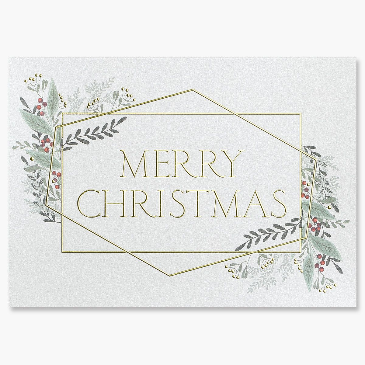 Merry Christmas Lines Greeting Card