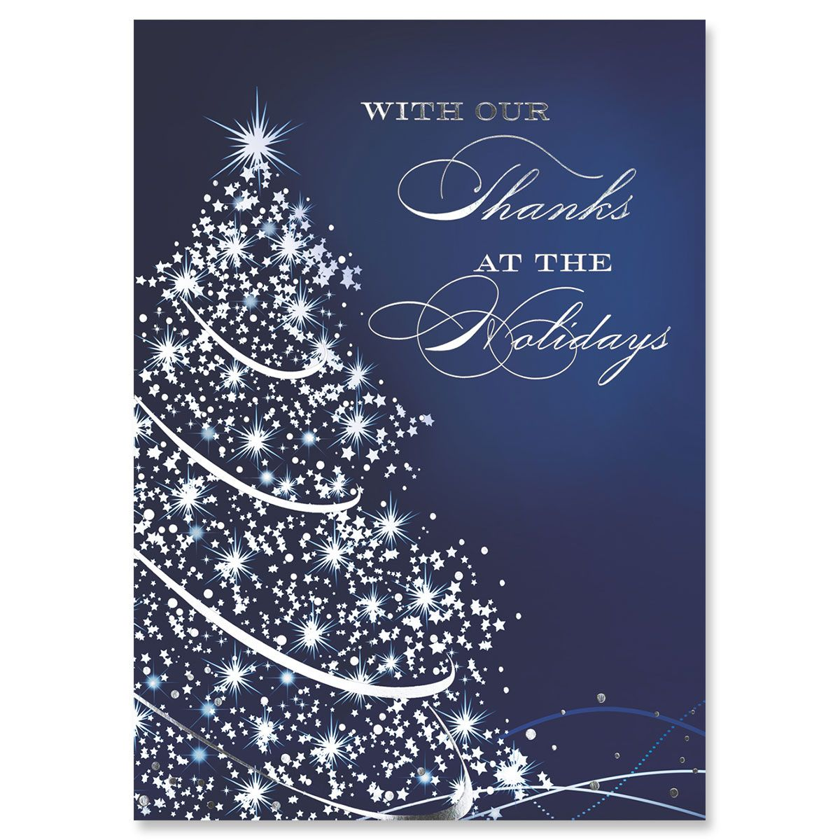 Starry Blue Holiday Greeting Card