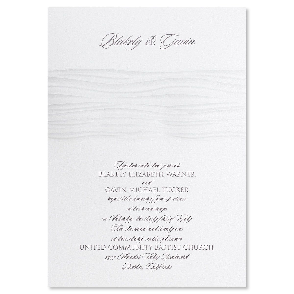 Modern Wave Invitation