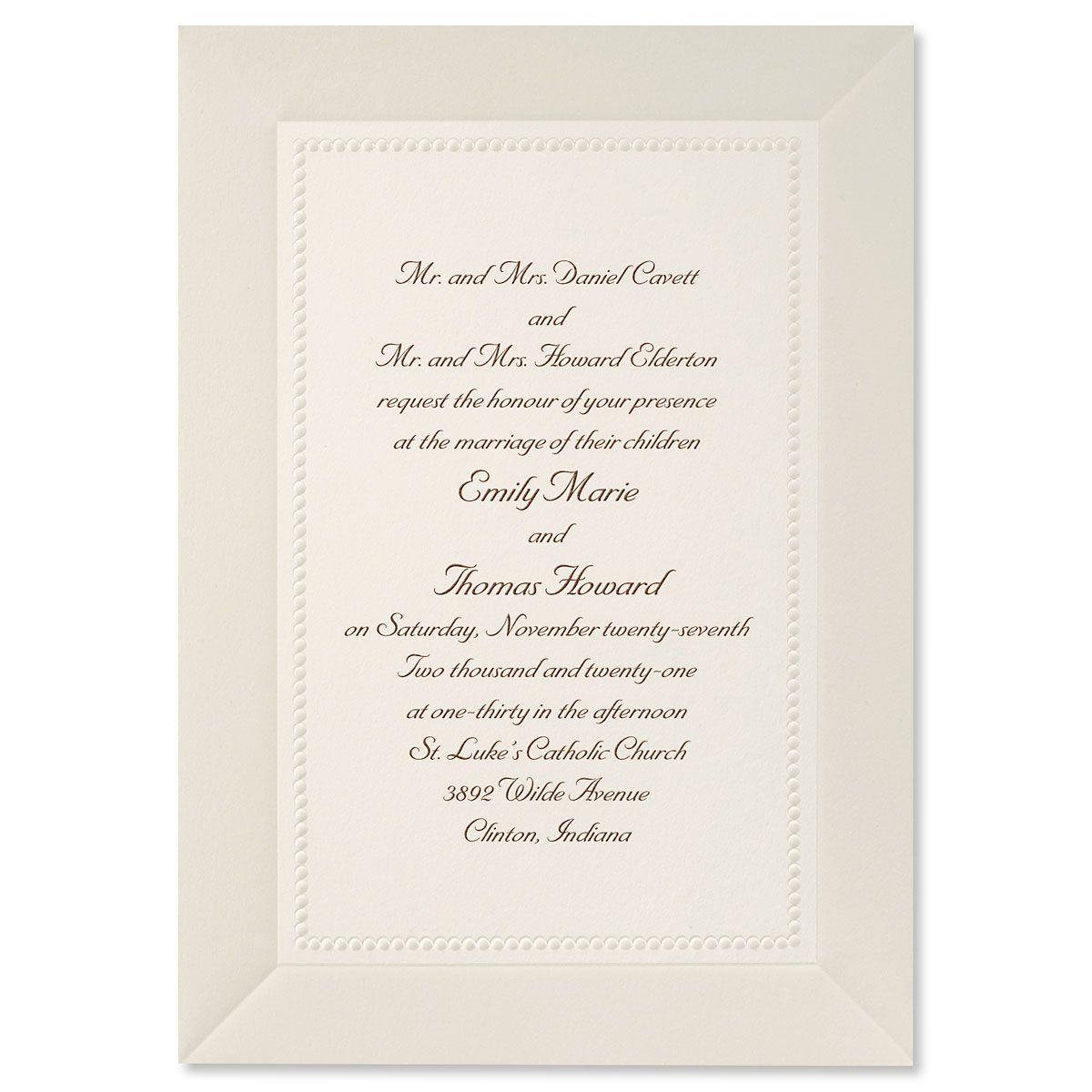 Pearl Elegance Invitation