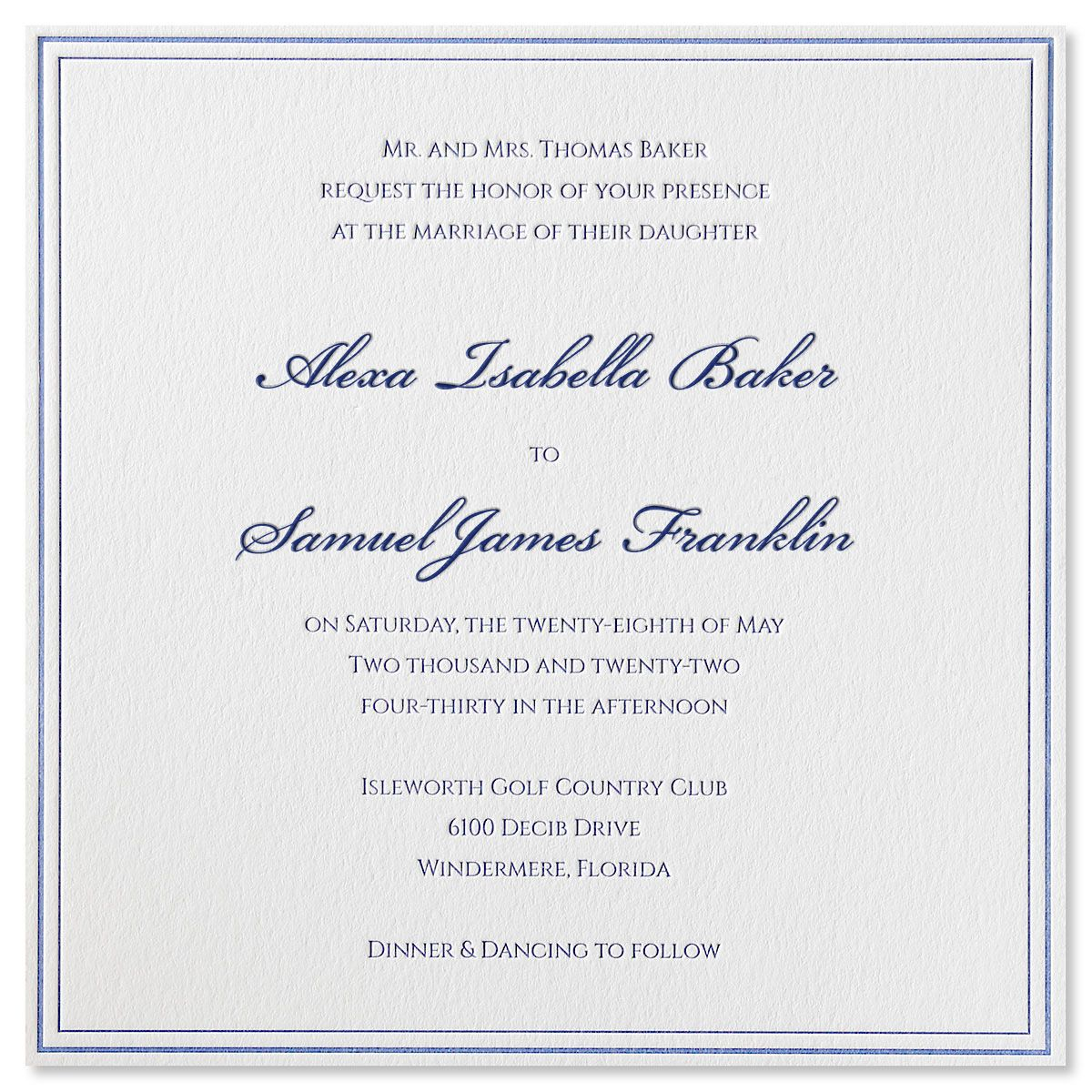 Luxurious Love Invitation