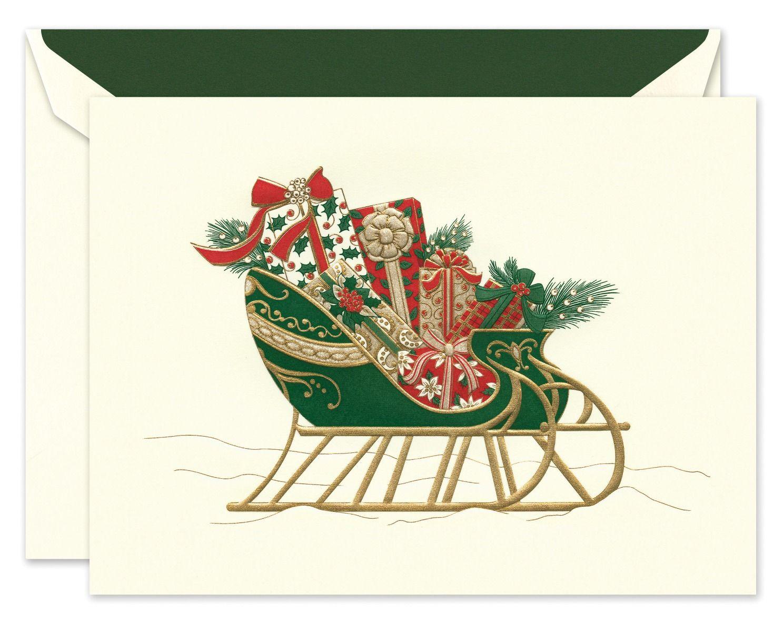 Festive Sleigh Greeting Card