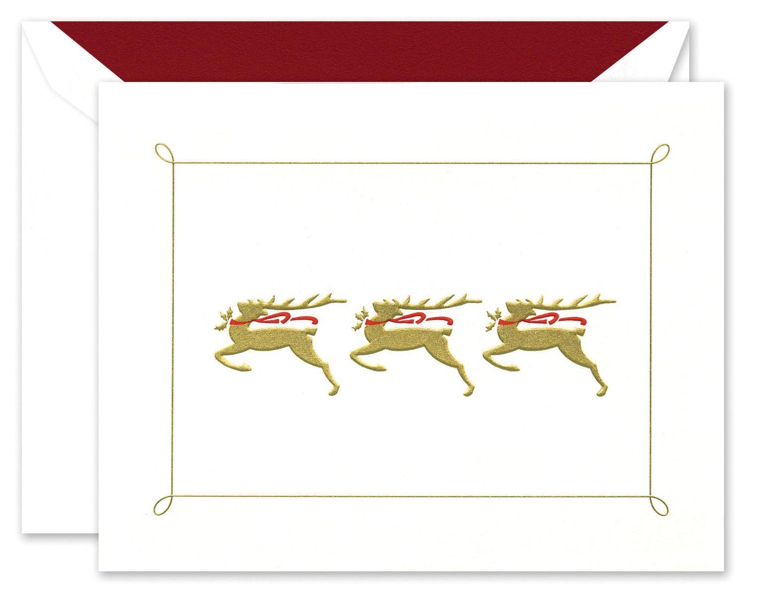 Prancing Deer Greeting Card