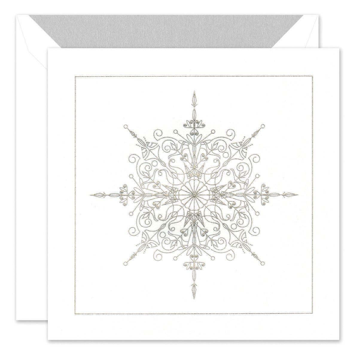 Sparkling Snowflake Greeting Card
