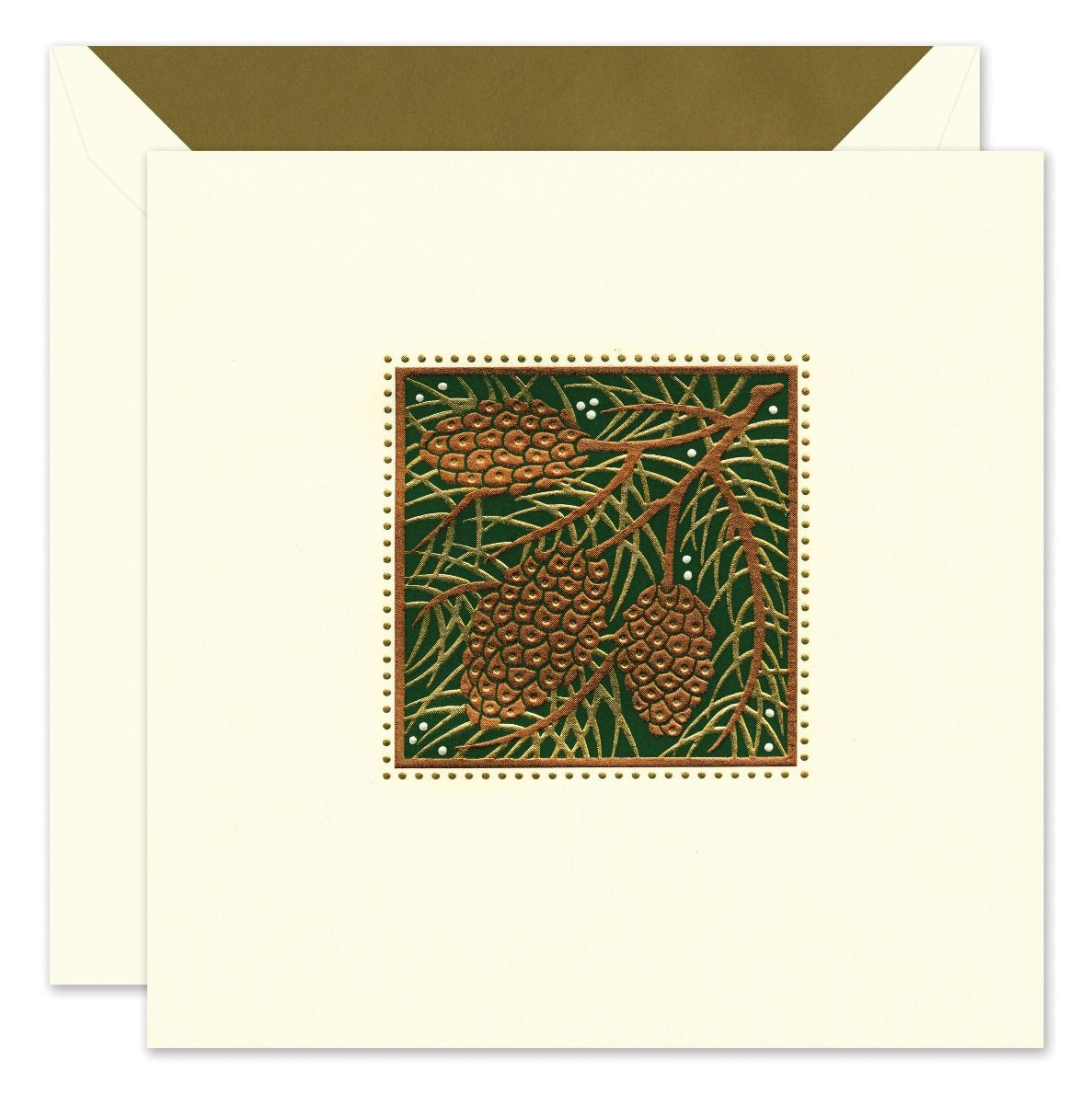 Holiday Pinecones Greeting Card