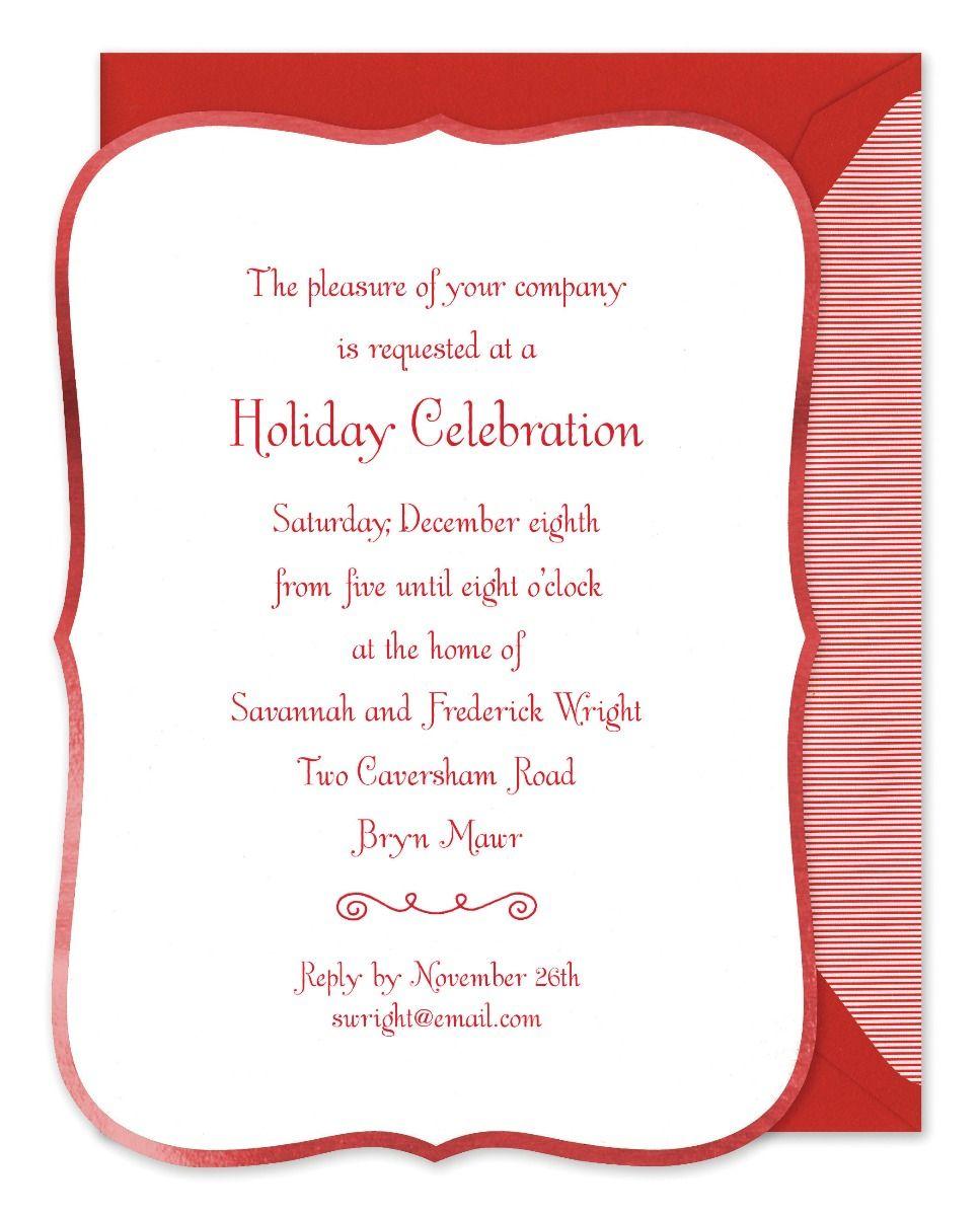 Ornate Red Border Invitation