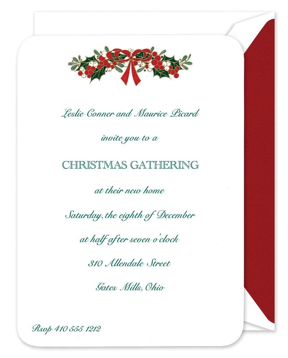 Mistletoe Swag Invitation
