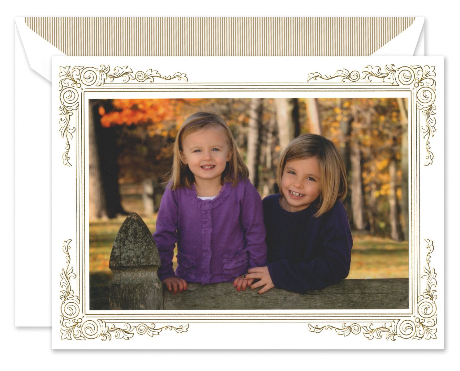 Gold Frame Mounted Photo Card
