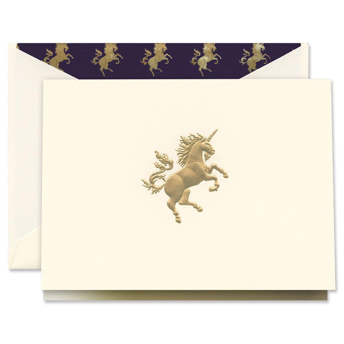 Engraved Unicorn Note Cards Boxed Set
