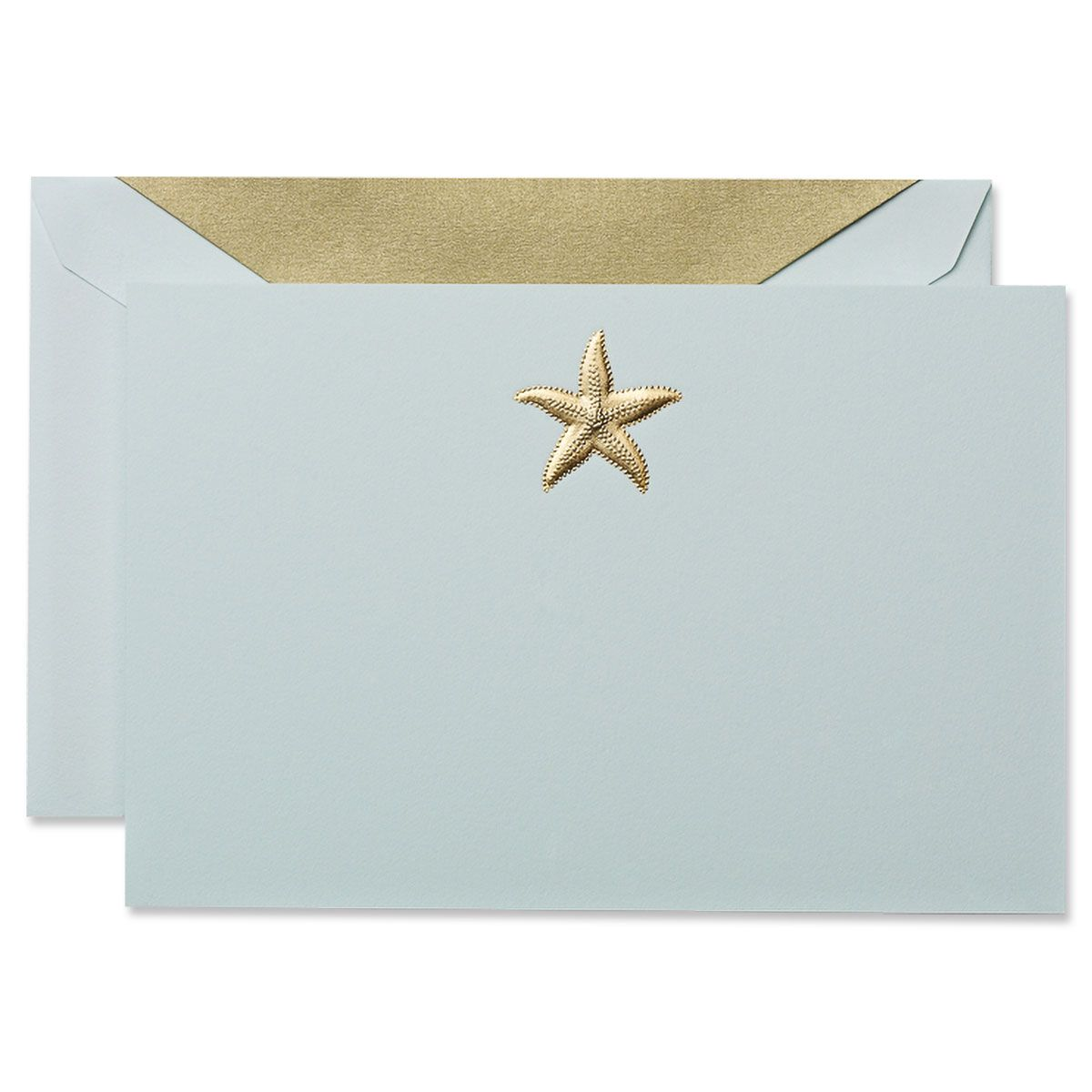 Engraved Starfish Correspondence Cards Boxed Set