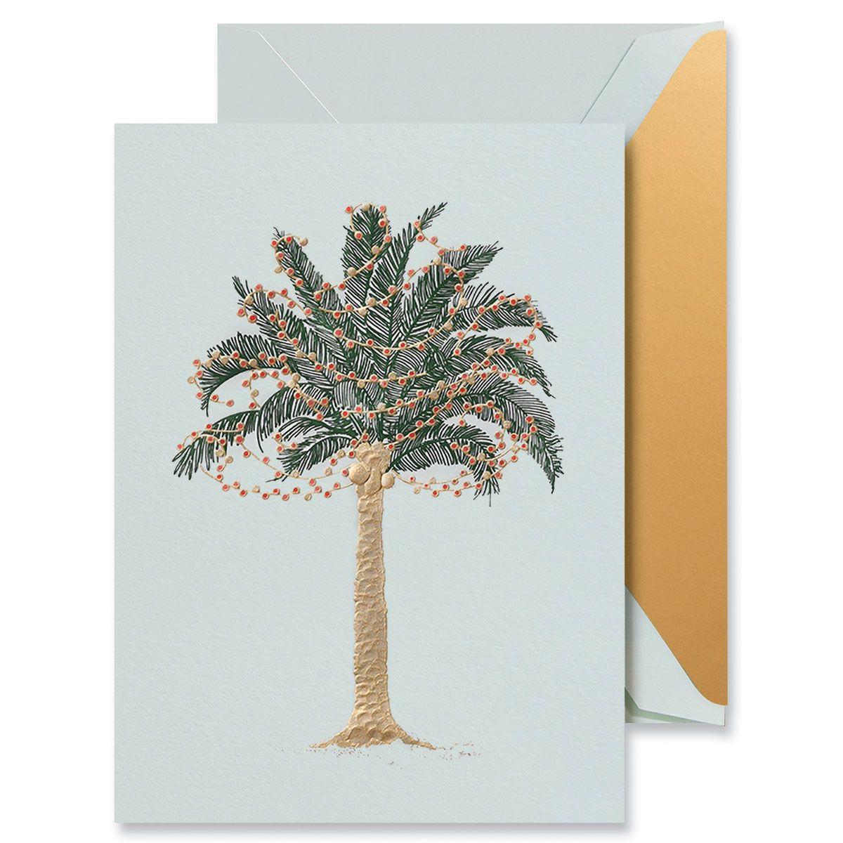 Twinkling Palms Greeting Card