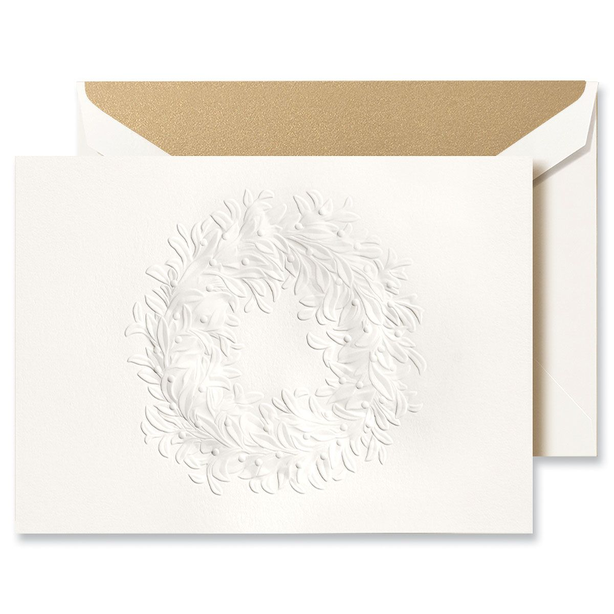 Blind Emboss Wreath Greeting Card