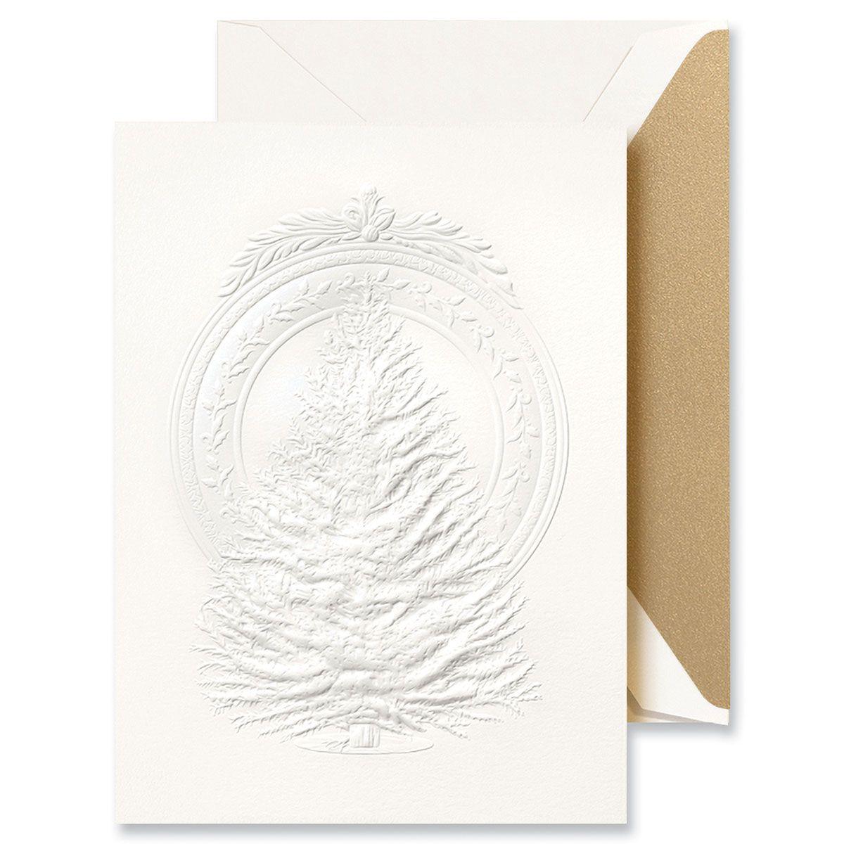 Blind Emboss Tree Medallion Greeting Card