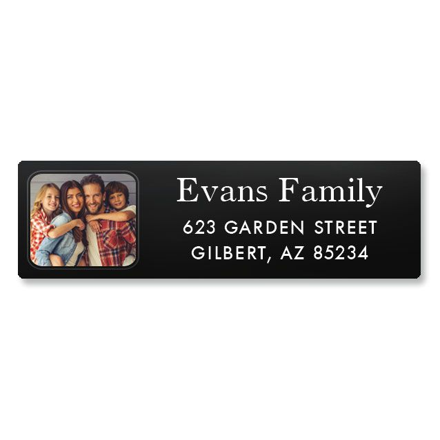 Modern Classic Photo Custom Address Labels