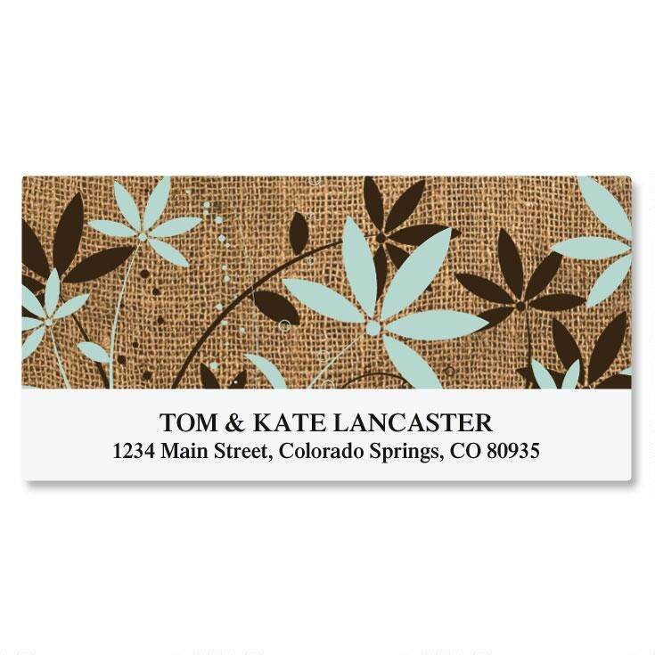 Burlap Deluxe Custom Address Labels