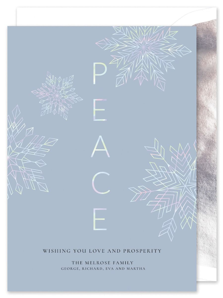 Peace Hologram Greeting Card