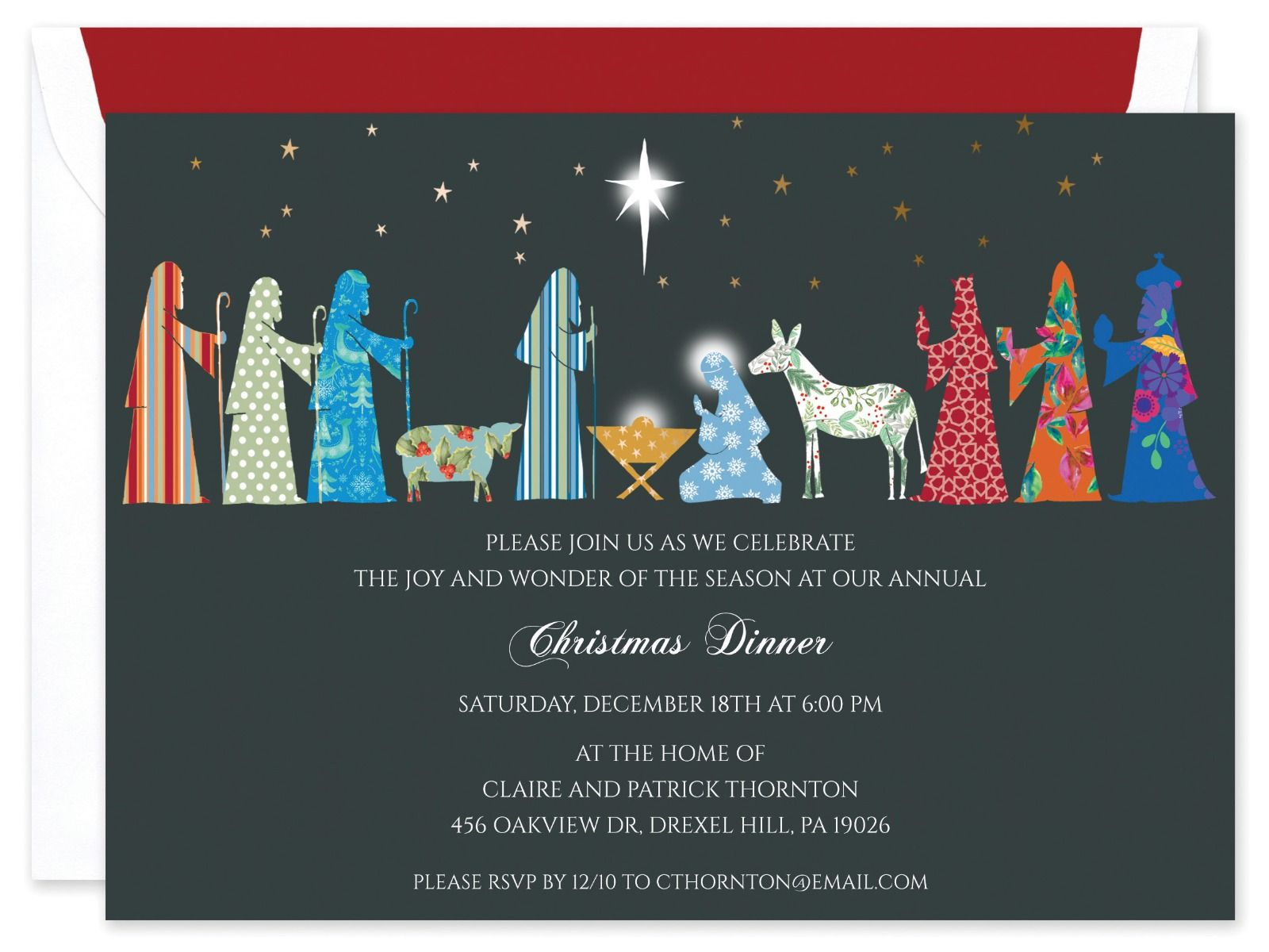 Nativity Invitation