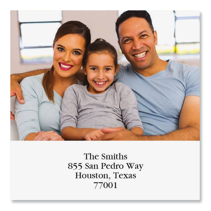 Direct Large Square Custom Photo Address Labels
