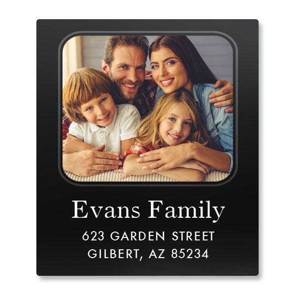 Modern Select Photo Custom Address Labels