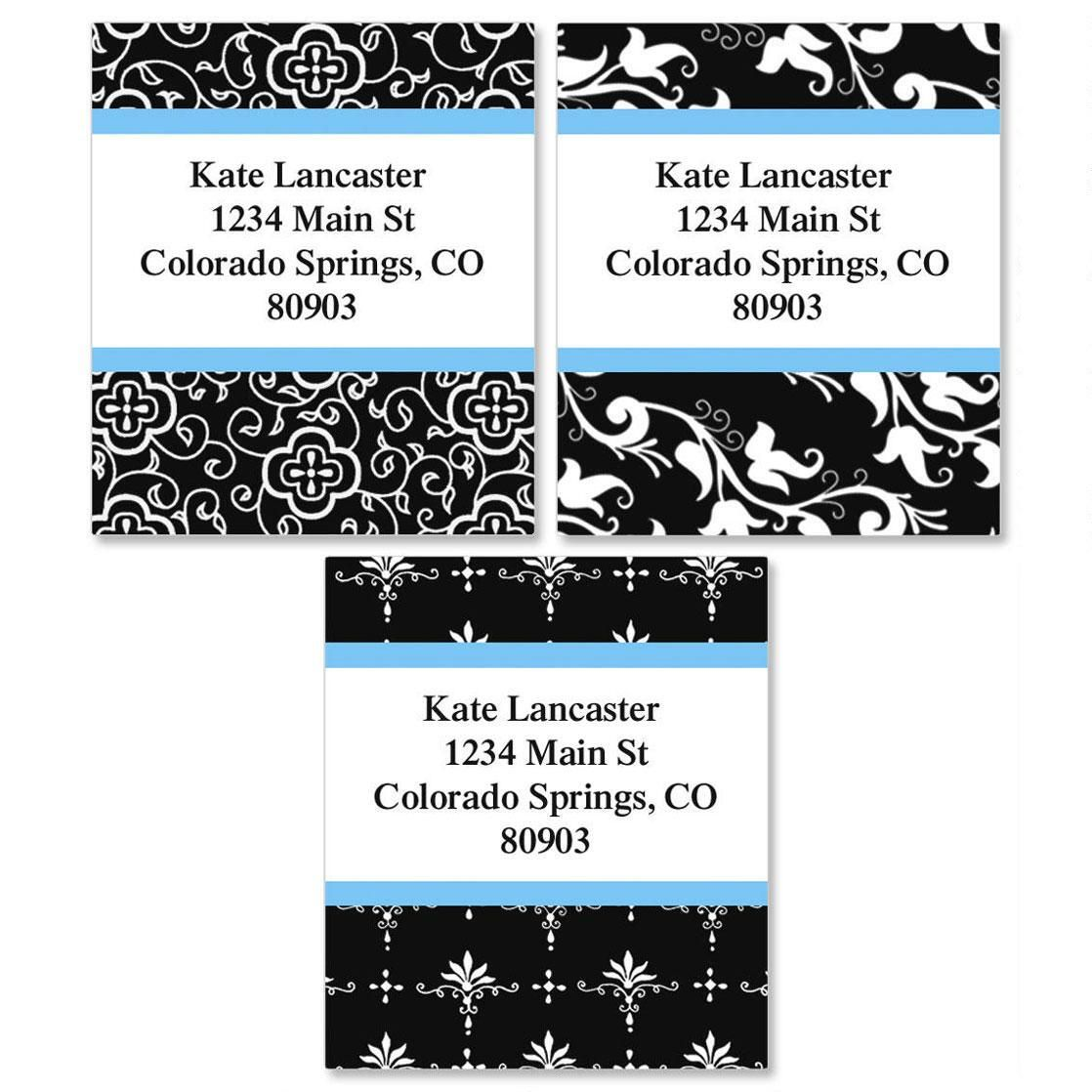Black Elegance Select Custom Address Labels  (3 Designs)