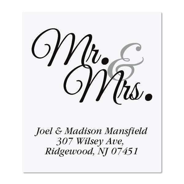 Mr. & Mrs. Select Custom Address Labels