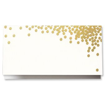 Oyster Confetti Place Card