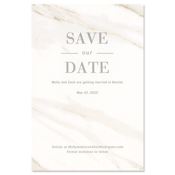 Calacatta Cotton Save the Date