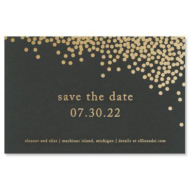 Black Confetti Save the Date