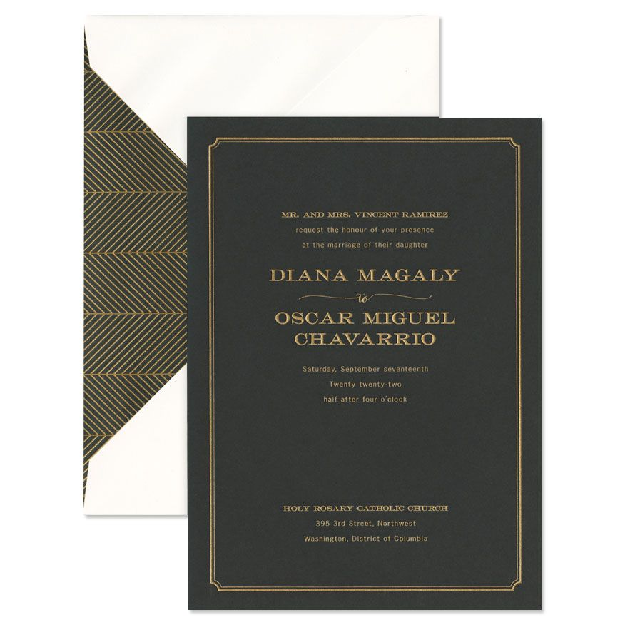 Black Paper Invitation