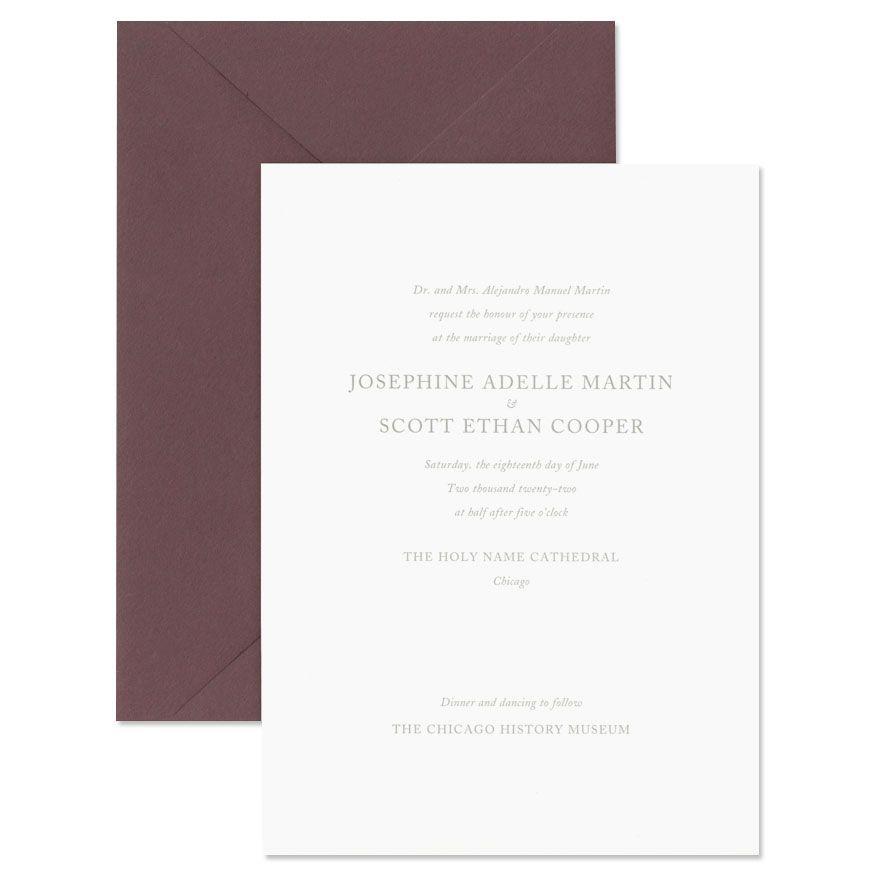 Fluorescent White Cotton Card Invitation